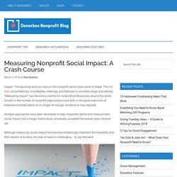Measuring Nonprofit Social Impact: A Crash Course - Nonprofit Blog
