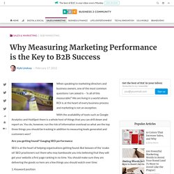 Why Measuring Marketing Performance is the Key to B2B Success