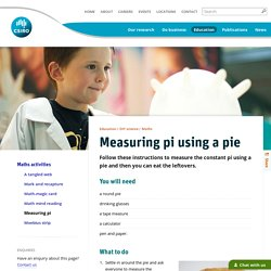 Measuring pi using a pie