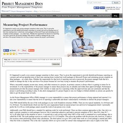 Measuring Project Performance