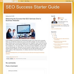 Measuring the Success that SEO Services Give to Business Websites