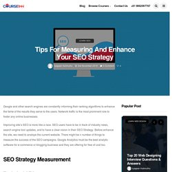 Tips for Measuring and Enhance Your SEO Strategy - Courseinn Academy