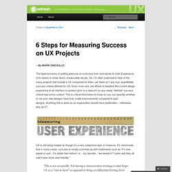 6 Steps for Measuring Success on UX Projects