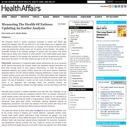 Measuring The Health Of Nations: Updating An Earlier Analysis
