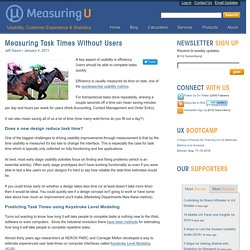 Measuring Task Times without Users: MeasuringU