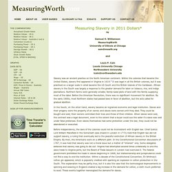 Measuring Worth - Measuring the Value of a Slave