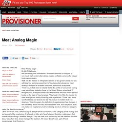Meat Analog Magic