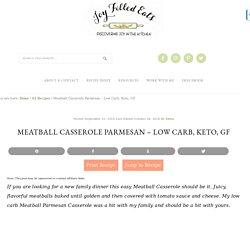 Meatball Casserole Parmesan