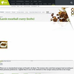 Lamb meatball curry (kofte) recipe : SBS Food