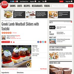 Greek Lamb Meatball Sliders with Tzatziki Recipe : Guy Fieri