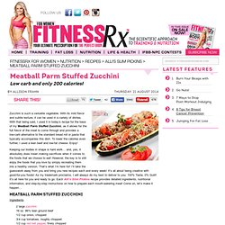 Meatball Parm Stuffed Zucchini