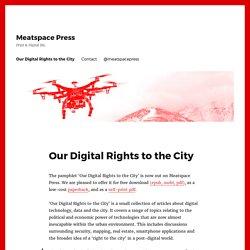 Meatspace Press – Print & Digital IRL