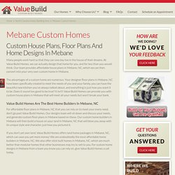 Mebane Custom House Plans Floor Plans Home Designs