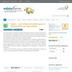 Gabon : 140 millions de dollars pour la mécanisation de l'agriculture