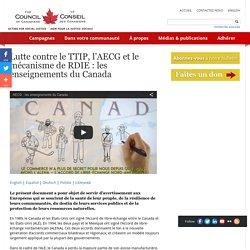 Lutte contre le TTIP, l'AECG et le mécanisme de RDIE : les enseignements du Canada