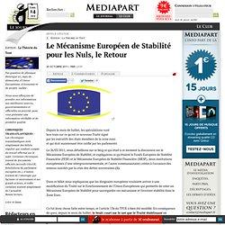 Le Mécanisme Européen de Stabilité pour les Nuls, le Retour
