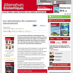 Les mécanismes du commerce international