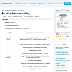 Les mécanismes comptables - Analyse sectorielle - zrairi