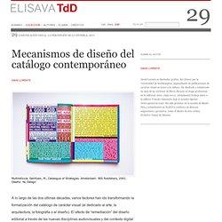 Mecanismos de diseño del catálogo contemporáneo