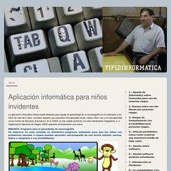 32.- Mekanta, Juego Mecanografía para ciegos. - Página web de tifloinformatica