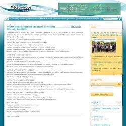 Mécatronique - Trophée des Objets Connectés 2016 : Les lauréats. mécatronique
