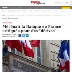 """Mécénat: la Banque de France critiquée pour des """"dérives"""""""