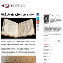 Mécénat culturel, le cas des archives