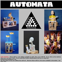 Automata - Mechanical Sculpture, Collectible Automaton hand-made in limited numbers,Cabaret mechanical theatre, Cabaret, CMT,mechanical theatre.