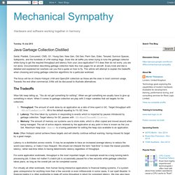 Mechanical Sympathy: Java Garbage Collection Distilled