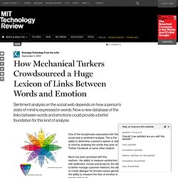 How Mechanical Turkers Crowdsourced a Huge Lexicon of Links Between Words and Emotion