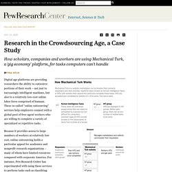 Mechanical Turk: Research in the Crowdsourcing Age