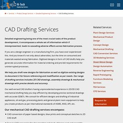 High-Quality Mechanical CAD Drafting & 2D / 3D CAD Drawing Services Firm