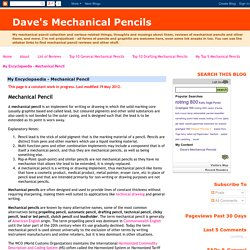 My Encyclopaedia - Mechanical Pencil