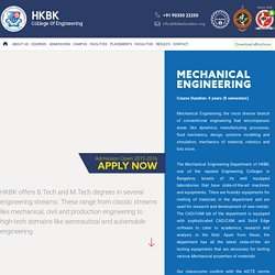 Best Mechanical Engineering College in Bangalore - HKBK