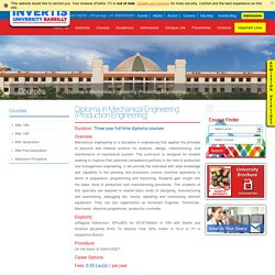 Top Mechanical Engineering Production Engineering Diploma College in UP