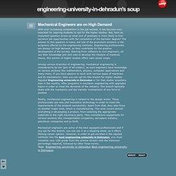 Mechanical Engineers are on High Demand - engineering-university-in-dehradun's soup