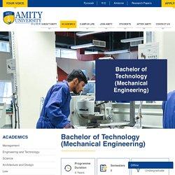 B. Tech in Mechanical Engineering
