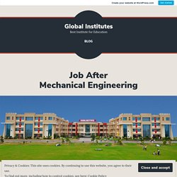 Job After Mechanical Engineering