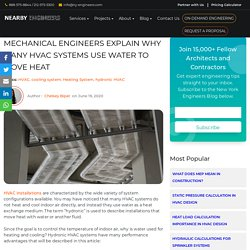 Mechanical Engineers Explain Why Many HVAC Systems Use Water to Move Heat