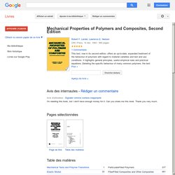 Mechanical properties of polymers ...