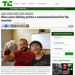 Nine-year-old boy prints a mechanical hand for his teacher – TechCrunch