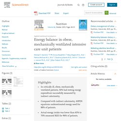 Energy balance in obese, mechanically ventilated intensive care unit patients