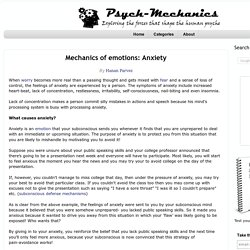 Mechanics of emotions: Anxiety