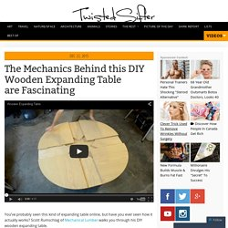 The Mechanics Behind this DIY Wooden Expanding Table are Fascinating
