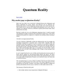 Quantum Mechanics - Interpretations and Reality