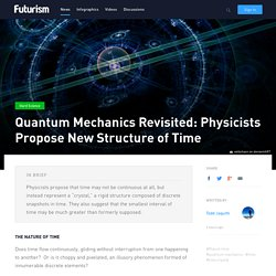Quantum Mechanics Revisited: Physicists Propose New Structure of Time