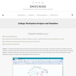 Linkage Mechanism Designer and Simulator