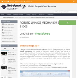 ROBOTIC LINKAGE MECHANISM Simulator 81003 | ROBOTS & ROBOTICS PORTAL