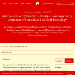 INTECH 06/07/19 Mechanisms of Cyanotoxin Toxicity—Carcinogenicity, Anticancer Potential, and Clinical Toxicology