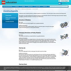 Preschool and School - Upper Primary - 8+ Machines and Mechanisms - Constructopedia